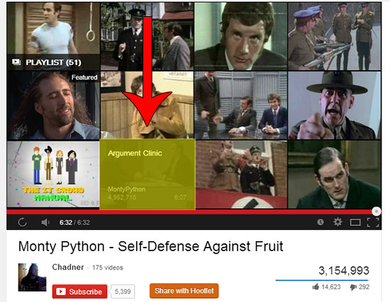 monty python youtube featured videos